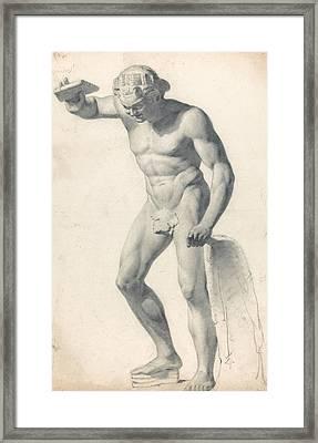A Faun With Pipes Framed Print by Richard Parkes Bonington