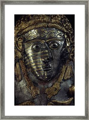 A Fearsome Visage Decorates A Thracian Framed Print by James L. Stanfield