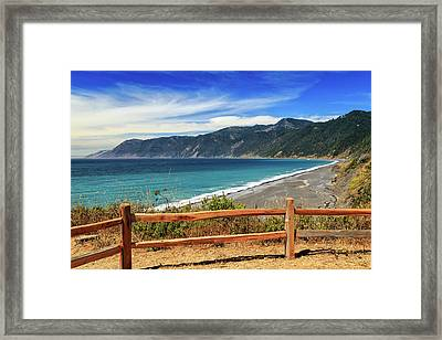 Framed Print featuring the photograph A Fence On The Lost Coast by James Eddy
