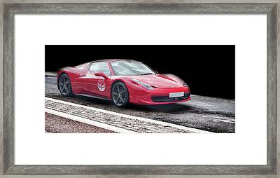 A Ferrari's Speed Framed Print