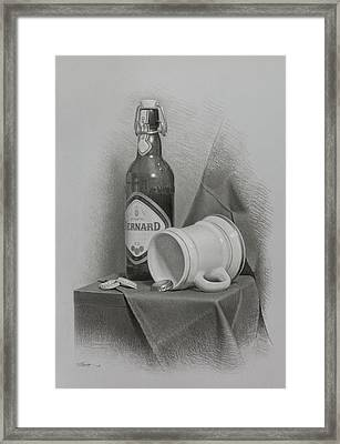 A Few Beers Framed Print by Miroslav Ivanov