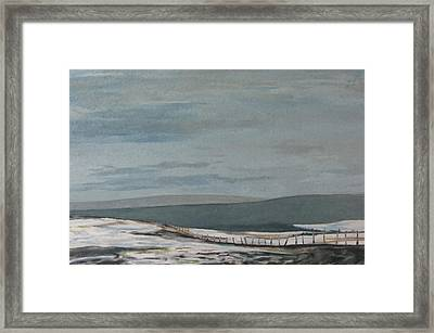 A Field In March Lapatrie Quebec Canada Framed Print