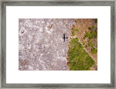 A Field Of Ashes, The Result Of Slash Framed Print by Michael Fay