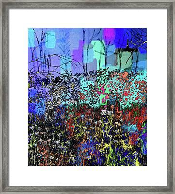 A Field Of Flowers Framed Print