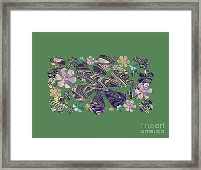 A Field Of Whimsical Flowers Framed Print