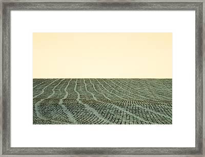A Field Stitched Framed Print