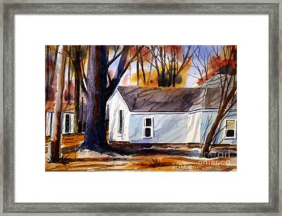 A Fifty Two February In The Shade Matted Framed Glassed Framed Print by Charlie Spear
