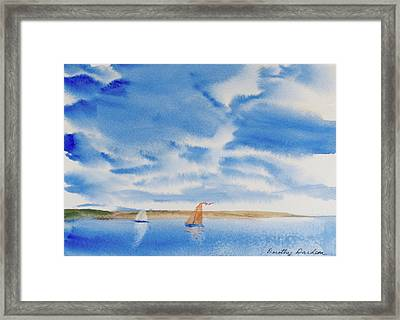 A Fine Sailing Breeze On The River Derwent Framed Print