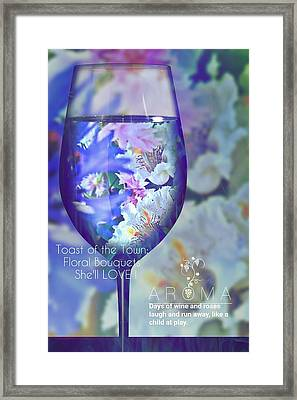 A Fine Wine Bouquet  Framed Print by ARTography by Pamela Smale Williams
