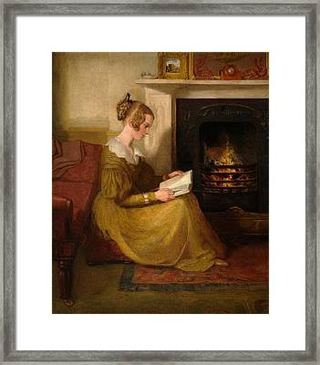A Fireside Read Framed Print by William Mulready