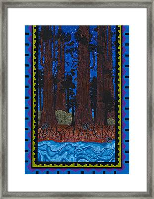 Framed Print featuring the painting A Forest Whispers by Chholing Taha
