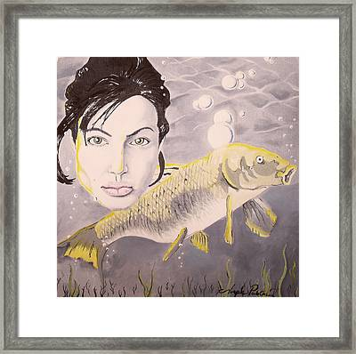 A Fish Named Angelina Framed Print