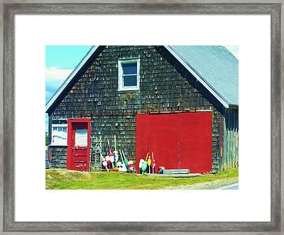 A Fisherman's Barn Framed Print