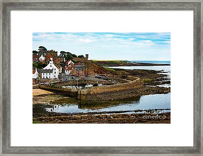 A Fishing Village Named Crail In East Nuek Of Fife Scotland Framed Print by MaryJane Armstrong