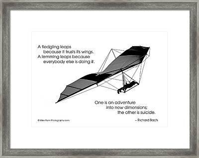 A Fledgling Leaps Framed Print