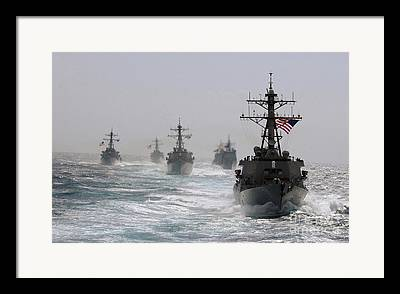 Uss Cape St George Framed Prints