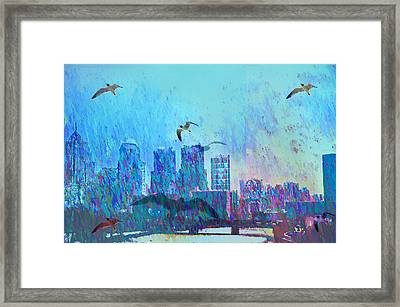 A Flock Of Seagulls Framed Print by Bill Cannon