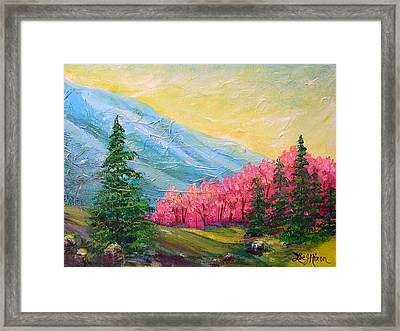 A Florid View Of The Blue Ridge Framed Print by Lee Nixon