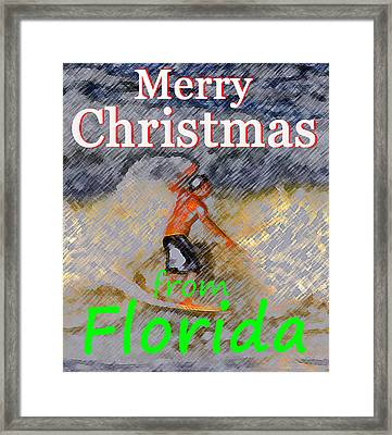 A Florida Christmas Framed Print by David Lee Thompson