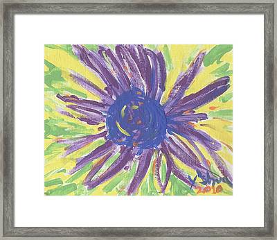 A Flower Framed Print by Yshua The Painter