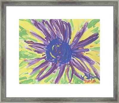 A Flower Framed Print