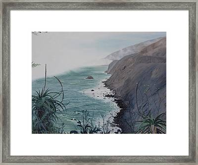A Fog Creeps In Framed Print