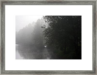 A Foggy Morning In Pennsylvania Framed Print