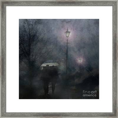Framed Print featuring the photograph A Foggy Night Romance by LemonArt Photography