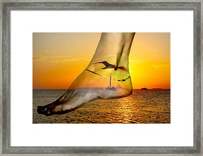 A Foot In The Sunset Framed Print