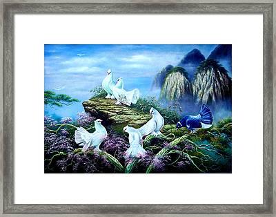 A Forest Bird Never Wants A Cage  Framed Print by Yuki Othsuka