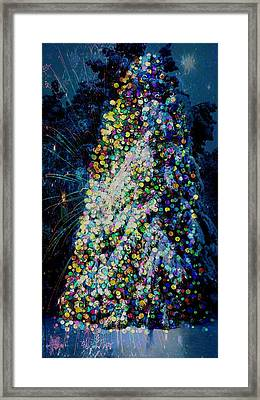 A Forest Tree Of Lights Framed Print by ARTography by Pamela Smale Williams