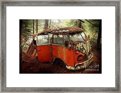 A Forgotten 23 Window Vw Bus  Framed Print by Michael David Sorensen