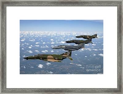 A Formation Of F-4 Phantom II Fighter Framed Print by Stocktrek Images