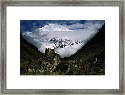 A Fortress Built To Repel Tibetan Framed Print by James L. Stanfield