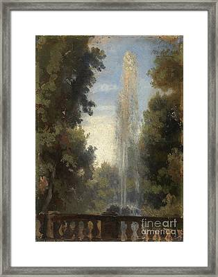 A Fountain In Frascati Framed Print