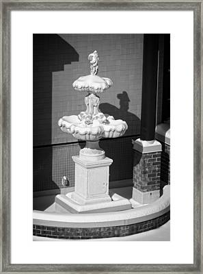 A Fountain Of Snow Framed Print