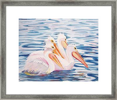 Framed Print featuring the painting A Foursome by Martha Ayotte