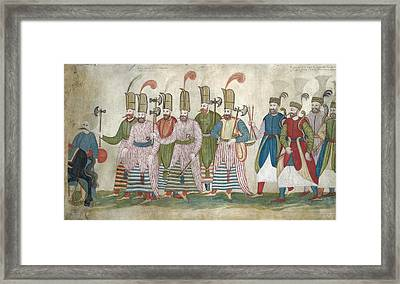 A Fragment Of A Scroll Framed Print by Eastern Accents