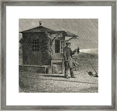 A French Pointsman In The Late 19th Framed Print