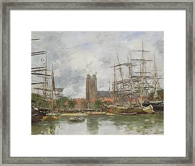 A French Port Framed Print