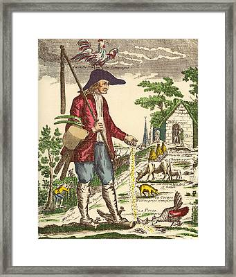 A French Village Peasant During The Framed Print by Vintage Design Pics