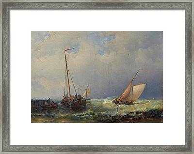 A Freshening Breeze Framed Print by Abraham Hulk