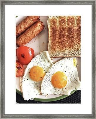 A Fried Breakfast Framed Print by Tom Gowanlock