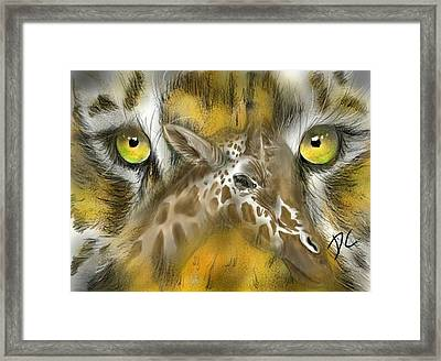 A Friend For Lunch Framed Print