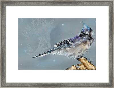 Framed Print featuring the digital art A Friend For Lunch Three by Darren Cannell