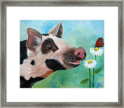 A Friend For Pippy Framed Print by Laura Carey