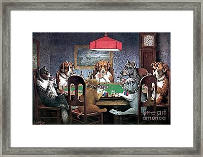 A Friend In Need Framed Print by Cassius Marcellus Coolidge
