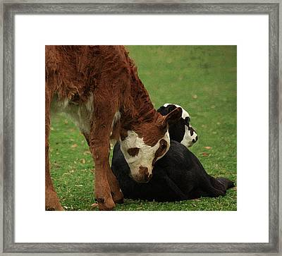 Framed Print featuring the digital art A Friend Indeed by Kim Henderson