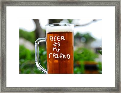 A Friendly Beer Framed Print by David Lee Thompson