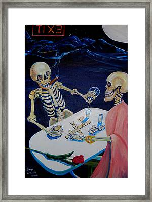 A Friendly Game Of Bones Framed Print by George Chacon